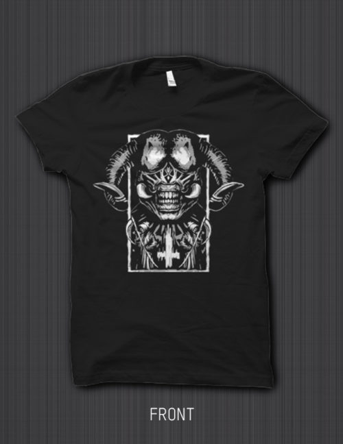 Shirt 'The Satan' (Black / Ash Grey)