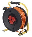 as-Schwabe 20644 PROFI-Kabeltrommel 320mmØ, 40m H07BQ-F 3G2,5 orange Thumbnail