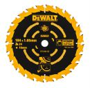 DeWalt Kreissaegeblatt Handkr. 184/16mm 24WZ - DT10302-QZ Thumbnail