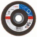 Bosch Fächerschleifscheibe X551, Expert for Metal, gewinkelt, 125 mm, 80, Glasgewebe 2608606718 Thumbnail