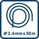 Bosch Leise-Mähfaden, 2,4 mm x 30 m, Zubehör für Akku-Freischneider F016800390 Thumbnail