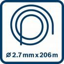 Bosch Leise-Mähfaden (2,7 mm x 206 m) F016800395 Thumbnail