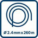 Bosch Leise-Mähfaden (2,4 mm x 260 m) F016800392 Thumbnail