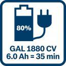 Bosch Akku Starter-Set: 2 x GBA 18 Volt, 5,0 Ah und GAL 1880 CV 1600A00B8J Thumbnail