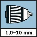 Bosch Akku-Schlagbohrschrauber GSB 10,8-2-LI, mit 2 x 2,0 Ah Li-Ion Akku 06019B690C Thumbnail