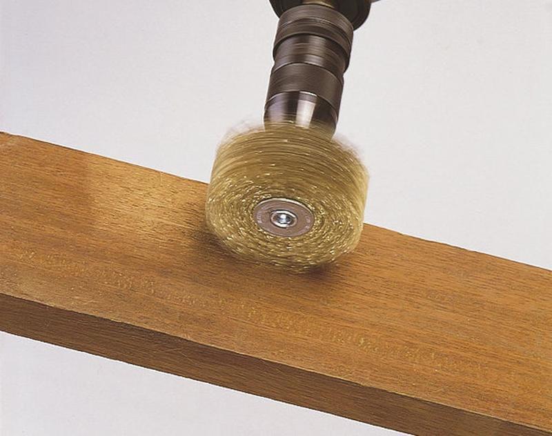 8 mm Schaft Wolfcraft Holz-Struktur-Bürste 80 mm Ø