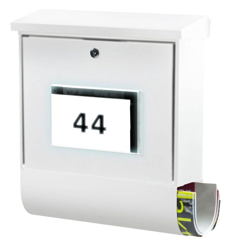 Burg Wächter Briefkasten Beleuchtung   Burg Wachter Briefkasten Malaga Weiss 4400 W Gunstig Bei Rubart De