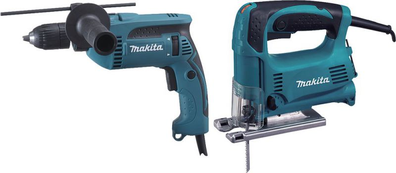 Makita Werkzeug Set Stichsage Schlagbohrmaschine Dk0074 Gunstig