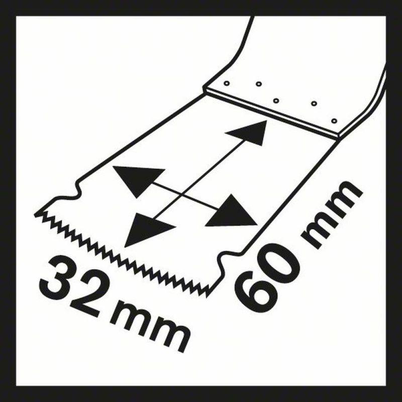 Bosch 2608662558 Tauchsägeblatt PAIZ 32 APB 60 x 32 mm Holz und Metal Starlock+