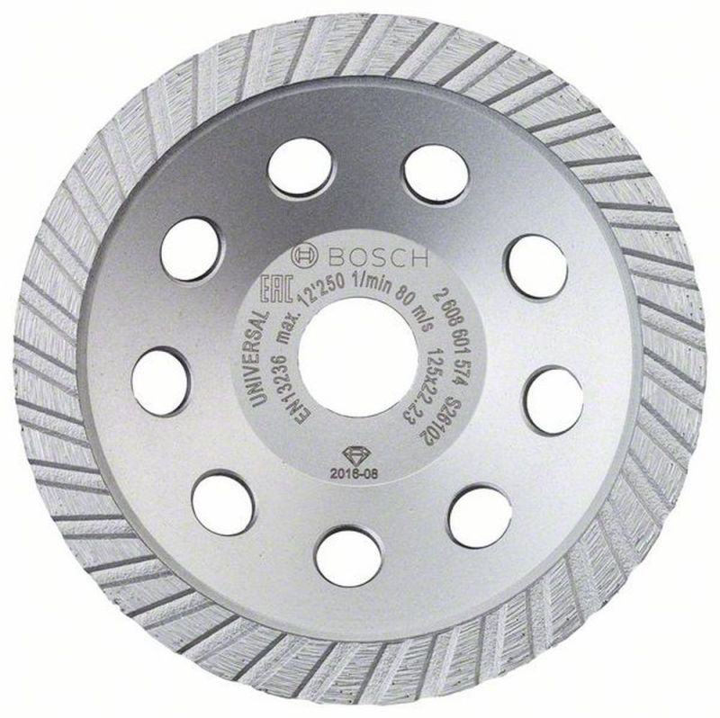 Bosch Diamanttopfscheibe Standard for Universal Turbo 125 x 22,23 x 5 mm