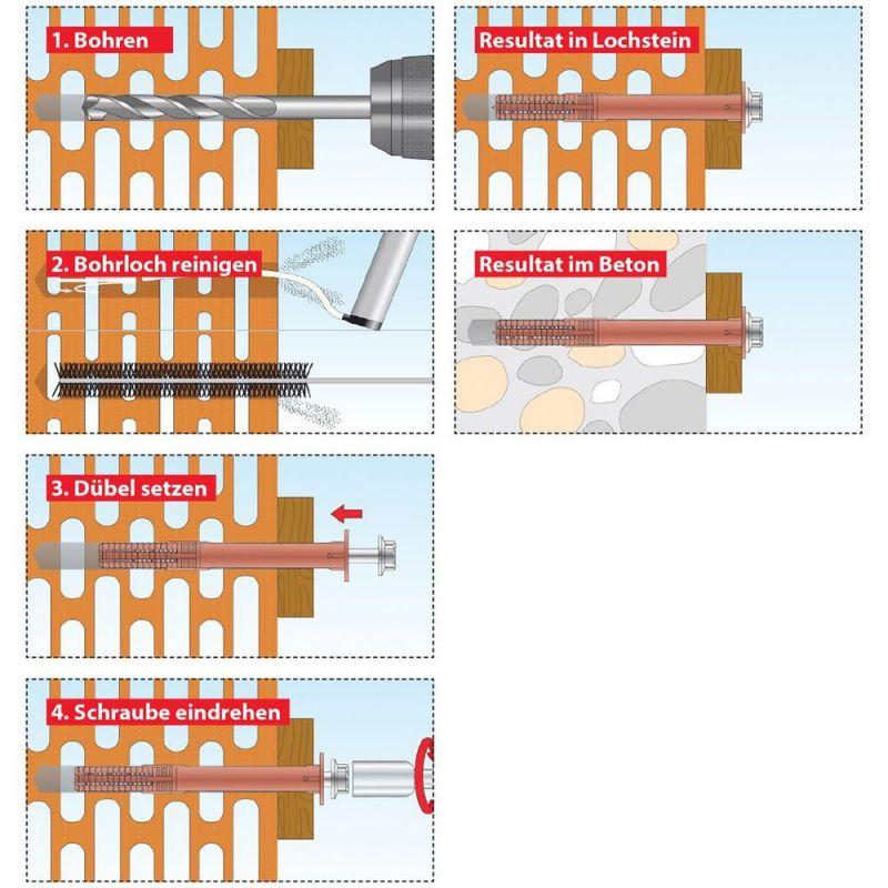 TOX Rahmendübel Fassad XL Fassadendübel Schlüsselschraube,Rahmendübel