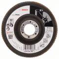 BOSCH Fächerschleifscheiben X581, Best for Inox, gewinkelte Ausführung - EN 13743