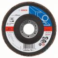 BOSCH Fächerschleifscheiben X551, Expert for Metal, gewinkelte Ausführung - EN 13743