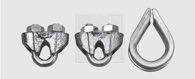 SWG Seilklemmen und Kauschen Set 8 mm Stahl verzinkt 3 Stück