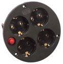 as-Schwabe 10542 4-fach-Steckdoseneinsatz IP20, Schutzkontakt Thermo