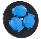 as-Schwabe 10566 Steckdoseneinsatz 3-fach blau, IP44
