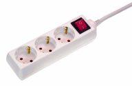 as-Schwabe 11361 Steckdosenleiste 3-fach, 1,4m, weiß, 1,4m H05VV-F3G1,5