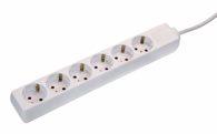as-Schwabe 11611 Steckdosenleiste 6-fach, 1,4m, weiß, 1,4m H05VV-F3G1,5