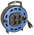 as-Schwabe 16307 Kabelbox TBS 10T blau, 7,5m H05VV-F 3G1,5 4 Steckdosen