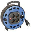 as-Schwabe 16310 Kabelbox TBS 20T blau, 10m H05VV-F 3G1,5 / 4 Steckdosen