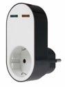 as-Schwabe 18211 USB-Ladeadapter, Schutzkontaktsteckdose 230V/16A 2 x USB Steckplatz