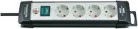 Brennenstuhl Premium-Line Steckdosenleiste 4-fach schwarz/lichtgrau 5m H05VV-F 3G1,5