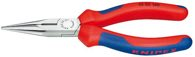 KNIPEX (25 02 160) Flachrundzange mit Schneide 160 mm