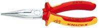 KNIPEX (25 06 160) Flachrundzange mit Schneide 160 mm