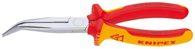 KNIPEX (26 26 200) Flachrundzange mit Schneide 200 mm