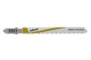 wolfcraft 5 Stichsägeblätter HCS L=75mm T-Schaft - 2653000