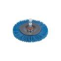 wolfcraft 1 Nylon-Scheibenbürste S=6mm,blau,ø75mm