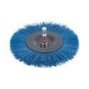 wolfcraft 1 Nylon-Scheibenbürste S=6mm,blau,ø100mm