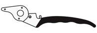 FELCO 2/1 Griff für Klinge Baumschere Felco 2