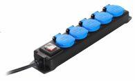 as-Schwabe 38605 5-fach Verteilersteckdosenleiste, 230V/16A, 4,5m Leitung H07RN-F 3G1,5 IP44