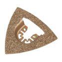 wolfcraft 1 Dreiecks-Schleifplatte HM bestreut