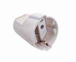 as-Schwabe 45011 Schutzkontakt-Kupplung, weiß, max. Querschnitt1,5mm² , 230 V