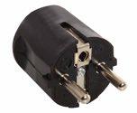 as-Schwabe 45032 Schutzkontakt-Zentralstecker, schwarz, 230 V