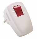 as-Schwabe 45034 Schutzkontakt-Winkelstecker, weiß, beleuchteter Schalter