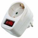 as-Schwabe 45037 Schutzkontaktsteckdose 230V, mit Schalter und Kontrolleuchte