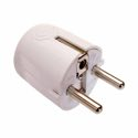 as-Schwabe 45041 Schutzkontakt-Winkelstecker, weiß, 230 V