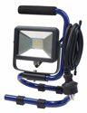 as-Schwabe mobiler Chip-LED-Strahler 10 W, IP 65 Baustrahler für Aussen und Baustelle, blau (EEK: A)