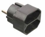 as-Schwabe 48212 Eurostecker 2-fach, schwarz, 230 V