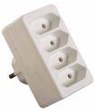 as-Schwabe 48411 Eurostecker 4-fach, weiß, 230 V