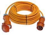 as-Schwabe 59610 CEE-Verlängerung 10m, orange, 10 m H07BQ-F 5G2,5