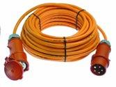 as-Schwabe 59649 CEE-Verlängerung 10m mit Phasenwendestecker, orange H07BQ-F 5G6