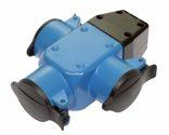 as-Schwabe 60057 3-fach Aktions-Gummiverteiler, blau, mit Klappdeckeln