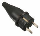 as-Schwabe 60412 Vollgummi-Stecker, schwarz, schwere Ausführung