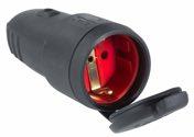 as-Schwabe 60415 Gummikupplung, schwarz, Deckel max. Querschnitt 2,5mm², 230V