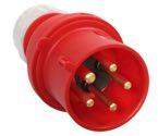 as-Schwabe 60461 CEE-Phasenwenderstecker 400V/32A, rot, Schraubanschlüsse