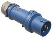 as-Schwabe 60470 CEE-Stecker 230V/16A, blau, mit Schraubanschlüssen